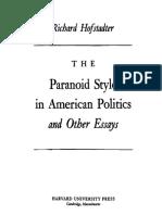 Hofstadter, Paranoid Style in American Politics