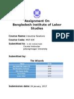 Bangladesh Institute of Labor Studies – BILS