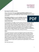 Neurological Conditions Factsheet