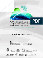 25th International Congress of History of Science and Technology - Book of Abstracts