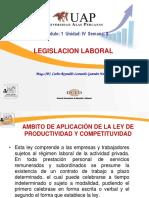 Semana 8 - Ambito de Aplicación de La Ley de Productividad y Competituvidad