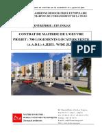 Contrat Etude 700 Logts Jijel Aadl2017