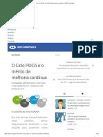 O Ciclo PDCA e o Mérito Da Melhoria Contínua – ADM Carangola