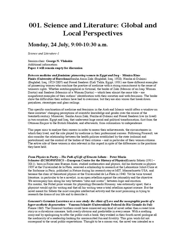 Symposium Sessions - 25º Congresso Internacional de História das ...