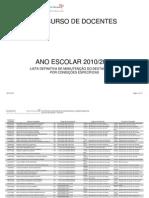 Listas de Manutenção de DCE - actualizacao