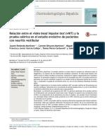 Relación entre el video head impulse test (vHIT) y la prueba calórica en el estudio evolutivo de pacientes con neuritis vestibular