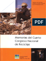 Memorias Cuarto Congreso Nacional del Reciclaje