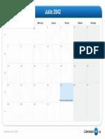 Calendario Julio 2042