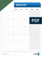 Calendario Septiembre 2042