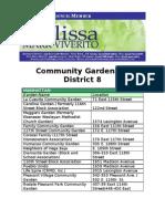 Community Gardens in District 8