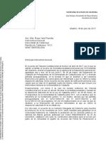 Carta enviada por Montoro a la Interventora General de Catalunya