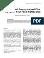 Prepolimerized Filer
