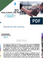 Rendición de Cuentas - 8 de Mayo - Congreso Nacional de Paz