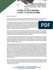 Boletín 003 Recta Final Al Congreso Nacional de Paz