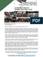 Boletín 004 Las Regione Dicen Si a Pacto Nacional Por La Vida y La Paz