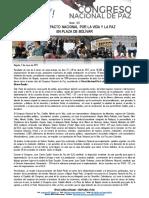 Boletín 005 Se Firma en Plaza de Bolívar Pacto Nacional