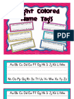 Bright Colored Nametags Freebie