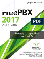 Dia FreePBX Conference Agenda Spanish