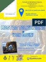 Poster Ivan Cavini exhibition Monteforte d'Alpone - Verona