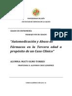 automedicacion tercera edadLIBRO AUTOR CRUZ 2014