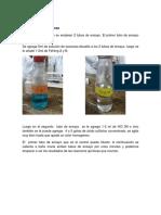 Hidrolisis de La Sacarosa y Reactivo Molish