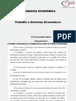 Fundamentos Da Geografia Econômica, Trabalho e Sistemas Econômicos