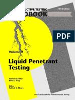 ASNT Handbook Volume 2 Liquid Penetrant Testing
