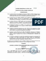 Acuerdo Ministerial 0222