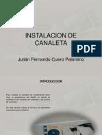 Instalacion Canaleta