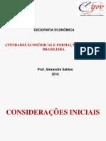 Atividades Econômicas e Formação Territorial Brasileira