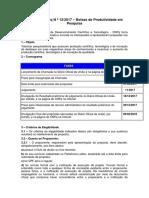 Chamada CNPq N ¿ 12_2017 ¿ Bolsas de Produtividade em Pesquisa.pdf