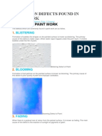 10 Common Defects Found in Paint Work