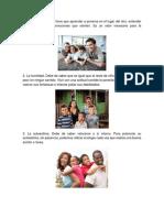 5 Valores en La Familia