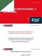 Exposición de Mayen Ugarte, secretario de Gestión Pública de la PCM