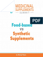 Food Based vs Synthetic Supplements