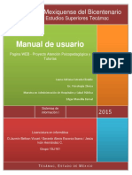 Manual de Usuario Pagina Web