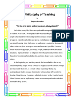 my philosophy of teaching