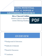 Estimating Potential Electrical Power of Geothermal Resource