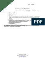 Diagnostics II - Class 1