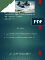Disolución y Liquidación de Empresas Del Sistema Financiero