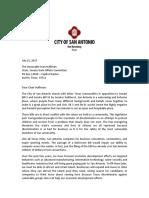 Mayor Nirenberg letter against Bathroom Bill.pdf