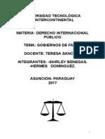 Tp Derecho internacional público Los Gobiernos de Facto.doc