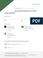 Modeling Peer and External Influence in Online Soc