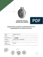 Normas Para Registro y Sistematizacion de Prision Preventiva