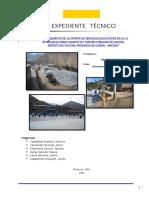 EXPEDIENTE TECNICO - COLEGIO