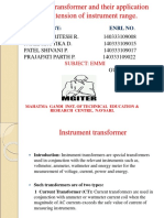 Instrument Transformer and Their Application