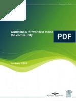 Warfarin Guidelines