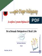 5 Copias. Diploma Día Del Libro
