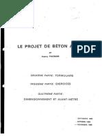 #[Thonier H.] Le Projet de Béton Armé
