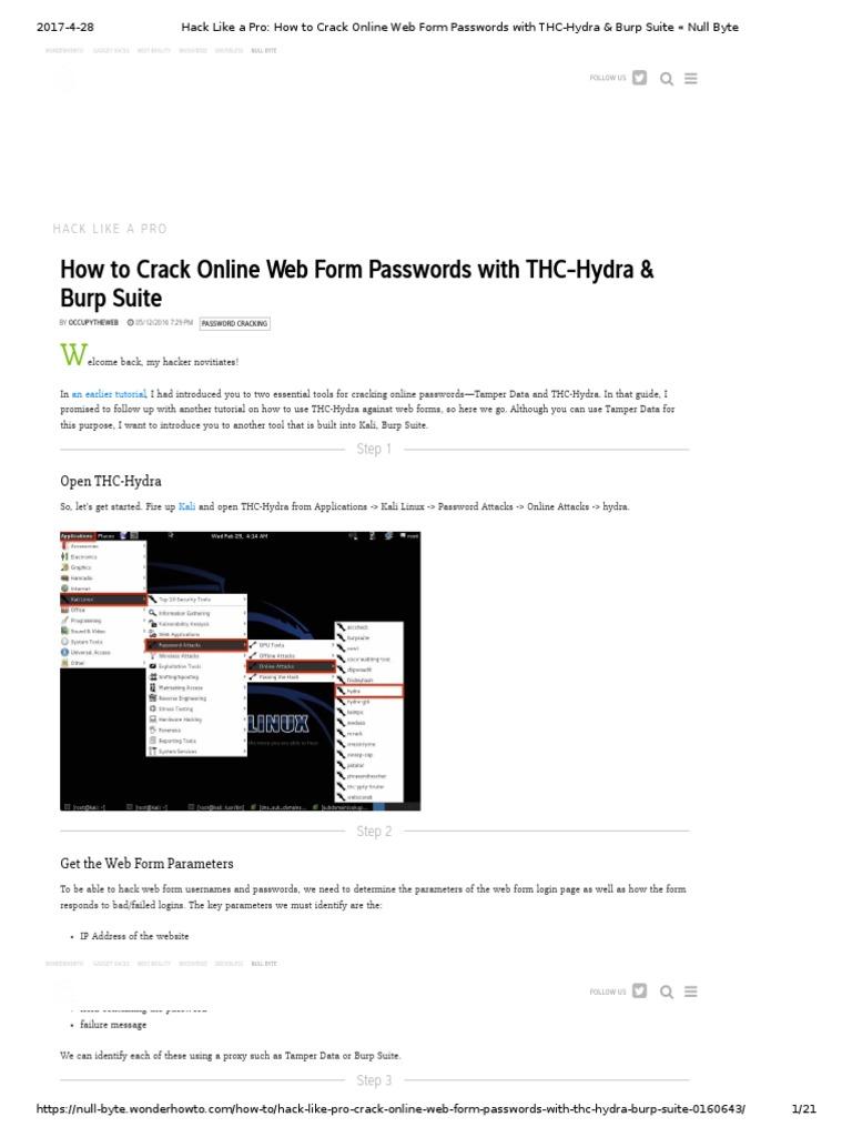 Web Cracking | Proxy Server | Password
